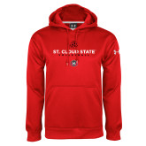 Under Armour Red Performance Sweats Team Hoodie-Volleyball Abstract Ball