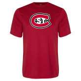 Performance Red Tee-Primary Mark