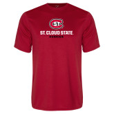 Performance Red Tee-St Cloud State Huskies Stacked w/ C