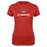 Ladies Syntrel Performance Red Tee-Athletic Primary Mark