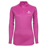 Ladies Syntrel Interlock Raspberry 1/4 Zip-Athletic Primary Mark