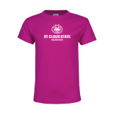 Youth Cyber Pink T Shirt-Athletic Primary Mark