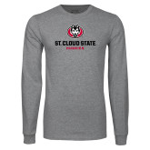 Grey Long Sleeve T Shirt-Athletic Primary Mark