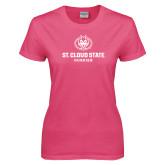 Ladies Fuchsia T Shirt-Athletic Primary Mark