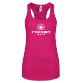 Next Level Ladies Raspberry Ideal Racerback Tank-Athletic Primary Mark