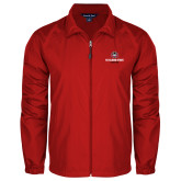 Full Zip Red Wind Jacket-Athletic Primary Mark