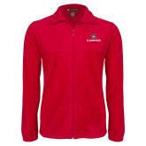 Fleece Full Zip Red Jacket-Athletic Primary Mark