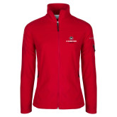 Columbia Ladies Full Zip Red Fleece Jacket-Athletic Primary Mark