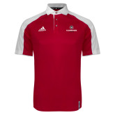 Adidas Modern Red Varsity Polo-Athletic Primary Mark