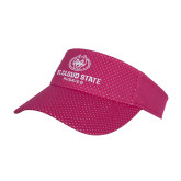 Pink Athletic Mesh Visor-Athletic Primary Mark