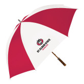 62 Inch Red/White Vented Umbrella-Athletic Primary Mark