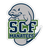 Large Decal-SCF Manatees, 12 inches tall
