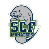 Small Decal-SCF Manatees, 6 inches tall