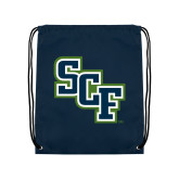 Navy Drawstring Backpack-SCF