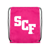Pink Drawstring Backpack-SCF