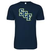 Next Level SoftStyle Navy T Shirt-SCF