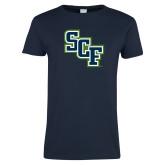 Ladies Navy T Shirt-SCF