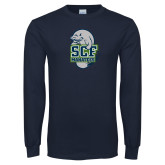 Navy Long Sleeve T Shirt-SCF Manatees
