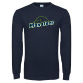 Navy Long Sleeve T Shirt-Manatees