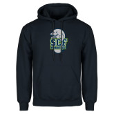 Navy Fleece Hoodie-SCF Manatees
