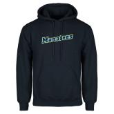 Navy Fleece Hoodie-Manatees