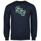 Navy Fleece Crew-SCF