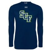 Under Armour Navy Long Sleeve Tech Tee-SCF
