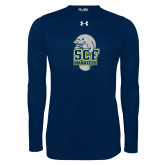Under Armour Navy Long Sleeve Tech Tee-SCF Manatees