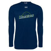Under Armour Navy Long Sleeve Tech Tee-Manatees