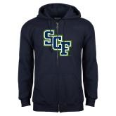 Navy Fleece Full Zip Hoodie-SCF