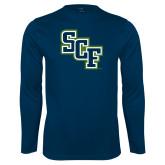 Performance Navy Longsleeve Shirt-SCF