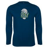 Performance Navy Longsleeve Shirt-SCF Manatees