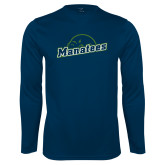 Performance Navy Longsleeve Shirt-Manatees