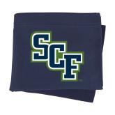 Navy Sweatshirt Blanket-SCF