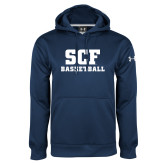 Under Armour Navy Performance Sweats Team Hoodie-Basketball