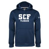 Under Armour Navy Performance Sweats Team Hoodie-Tennis