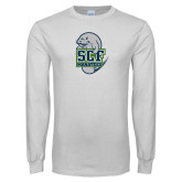 White Long Sleeve T Shirt-SCF Manatees