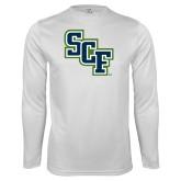 Performance White Longsleeve Shirt-SCF