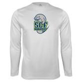 Performance White Longsleeve Shirt-SCF Manatees