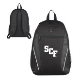 Atlas Black Computer Backpack-SCF