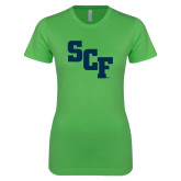 Next Level Ladies SoftStyle Junior Fitted Kelly Green Tee-SCF