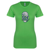Next Level Ladies SoftStyle Junior Fitted Kelly Green Tee-SCF Manatees