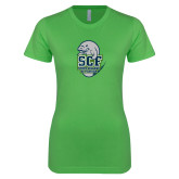 Next Level Ladies SoftStyle Junior Fitted Kelly Green Tee-SCF State College Florida