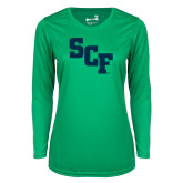 Ladies Syntrel Performance Kelly Green Longsleeve Shirt-SCF