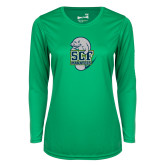 Ladies Syntrel Performance Kelly Green Longsleeve Shirt-SCF Manatees