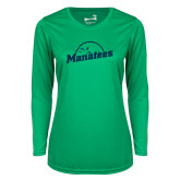 Ladies Syntrel Performance Kelly Green Longsleeve Shirt-Manatees