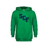 Youth Kelly Green Fleece Hoodie-SCF