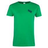Ladies Kelly Green T Shirt-SCF