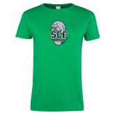 Ladies Kelly Green T Shirt-SCF Manatees