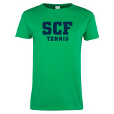 Ladies Kelly Green T Shirt-Tennis